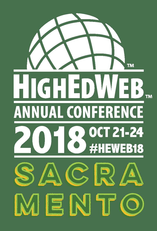 HighEdWeb 2018 Conference logo