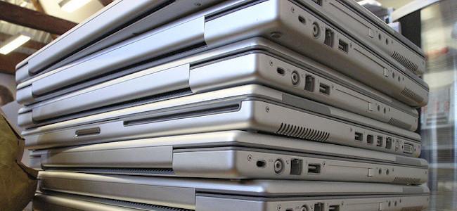 laptop pile
