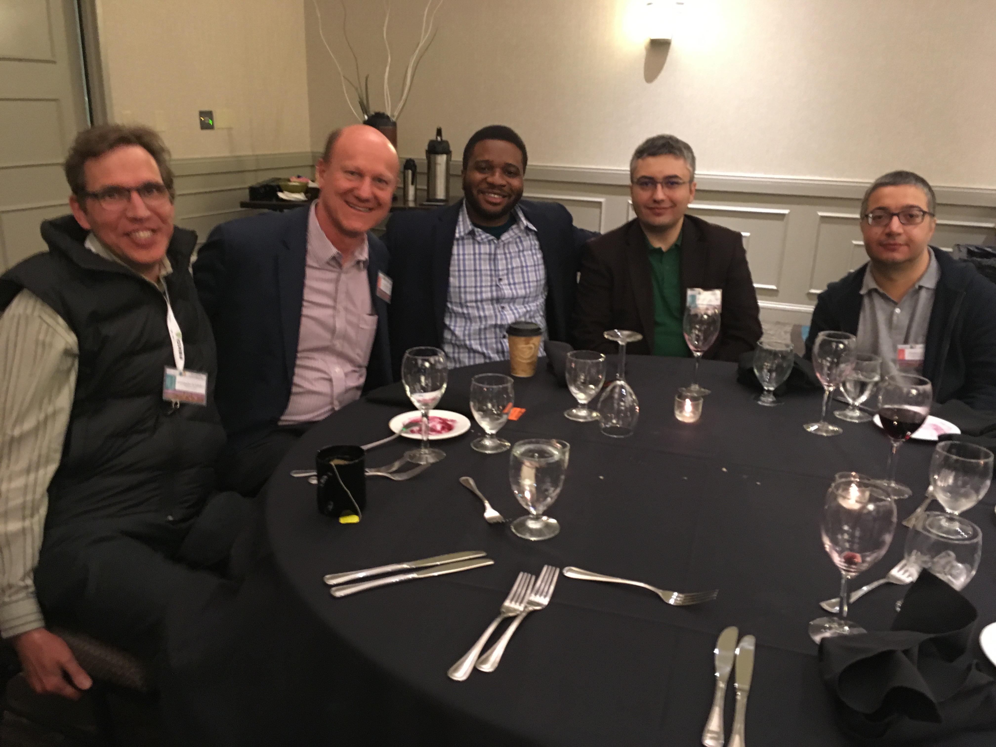 With Professor Olivier Martin and Professor Alex Kildishev at ACES 2018 Symposium