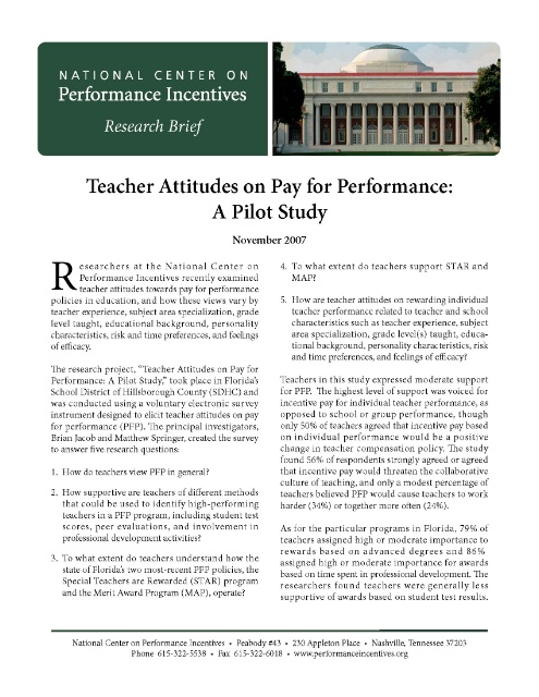 Essay on merit pay for teachers