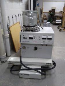 Vacuum depositer and old laser