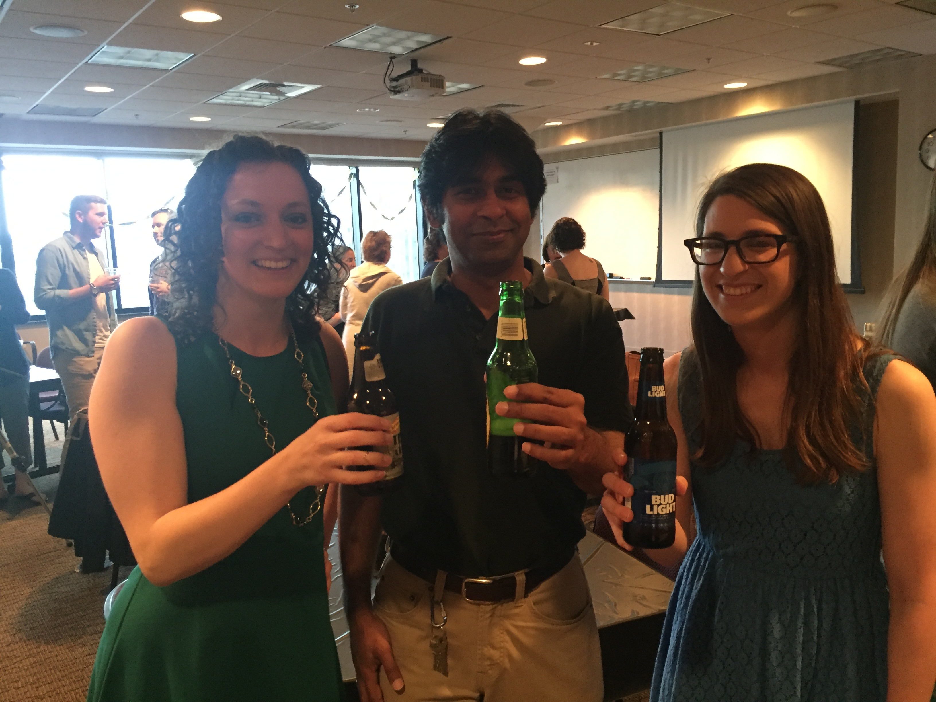 Celebrating at the audiology Third Year Banquet, April 2016