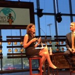 Jennifer Dyer speaking with Senator Bill Frist