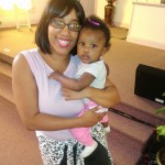 Kim Goins and daughter